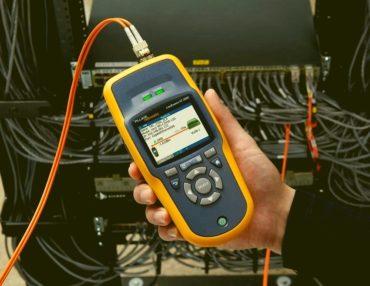 Тестирование проводится новейшим кабельным анализатором fluke networks